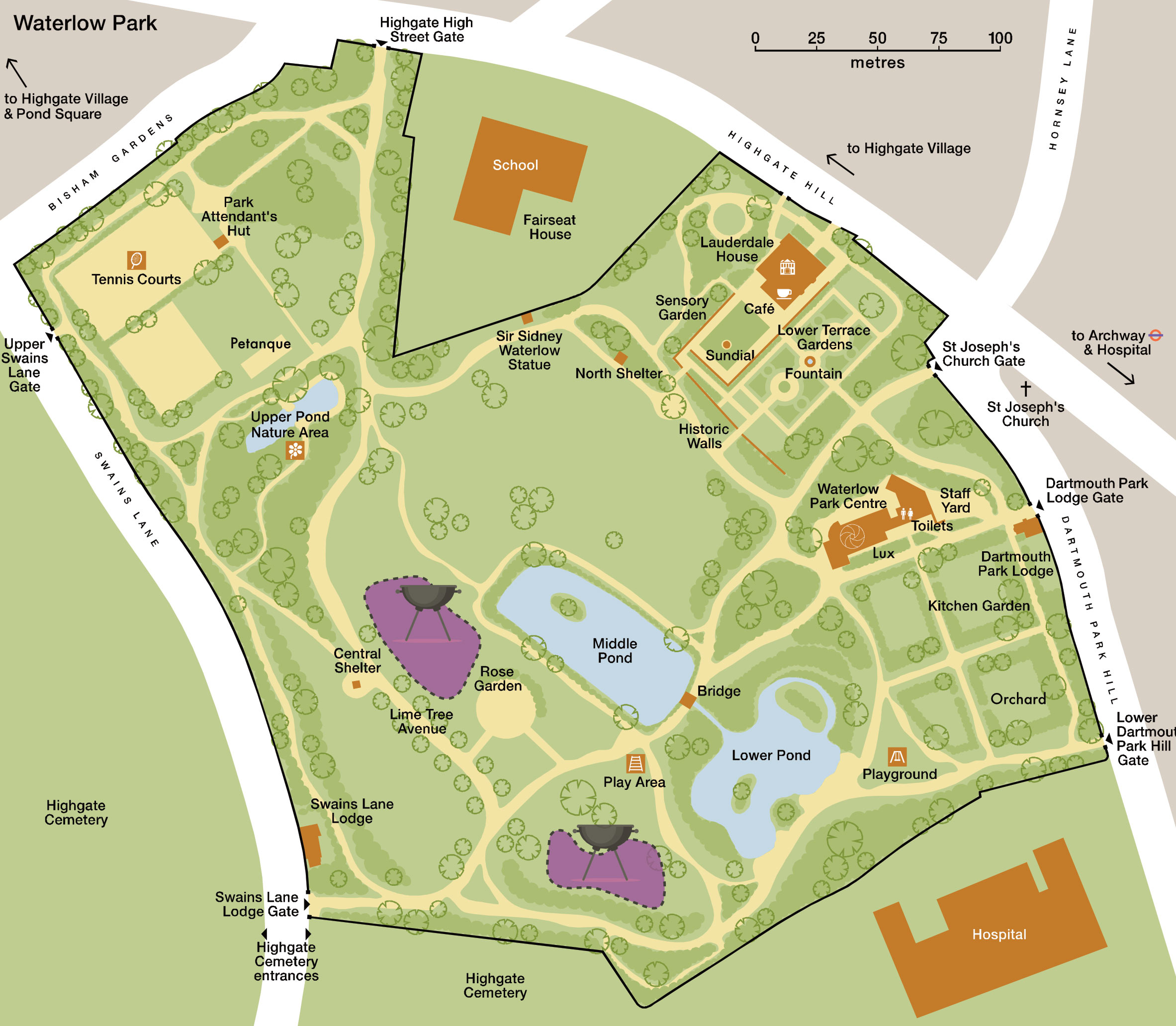 waterlow-park-map-2019L